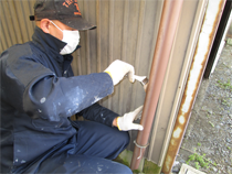 雨戸・雨樋の塗装